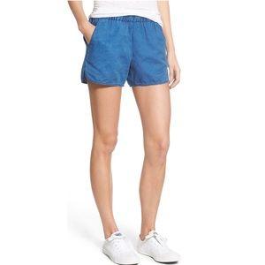 Madewell Indigo Linen Pull On Shorts
